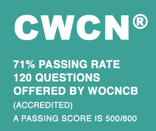 how hard is cwcn wound care certification?